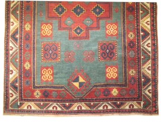 "Fachralo-Kazak prayer Caucasian, dated 1315 = 1897,  antique, collector's item. 194 x 150 (cm) 6' 4"" x 4' 11""  carpet ID: RS-230