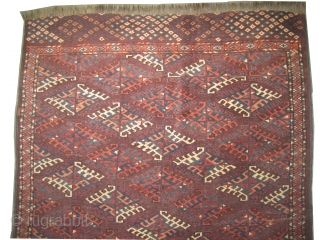 "Yemouth Dyrnak Turkmen circa 1890 antique. Collector's item. Size: 228 x 140 (cm) 7' 6"" x 4' 7""  carpet ID: K-1210