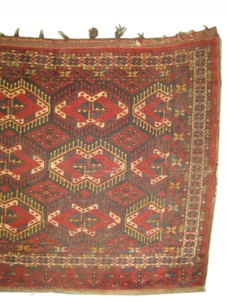 "Tschwal Turkmen circa 1905 antique. Collector's item. Size: 177 x 107 (cm) 5' 10"" x 3' 6""  carpet ID: SA-1196
