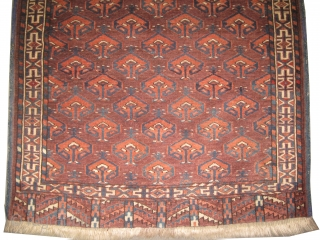 """Yemouth Turkmen circa 1885 antique. Collector's item. Size: 132 x 86 (cm) 4' 4"""" x 2' 10""""  carpet ID: T-602 High pile, perfect condition, vegetable dyes, the black color is oxidized, the  ..."""