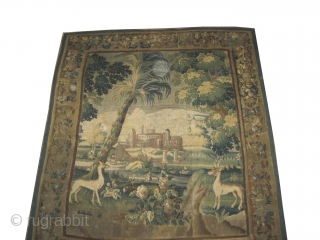 "Flemish Tapestry , 18 century, antique.  261 x 223 (cm) 8' 7"" x 7' 4"" Carpet ID: A-800