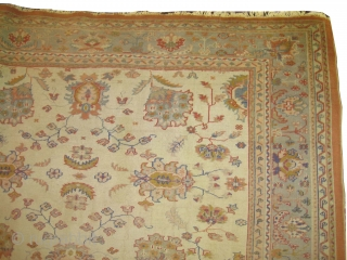 "Ushak Anatolian circa 1905 antique. Size: 337 x 248 (cm) 11' 1"" x 8' 2""  carpet ID: P-6006