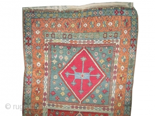 """East Anatolian rug, 19th century antique. Collector's item. Size: 246 x 110 (cm) 8' 1"""" x 3' 7""""  carpet ID: K-3545 High pile, the black color is oxidized, the knots are hand  ..."""