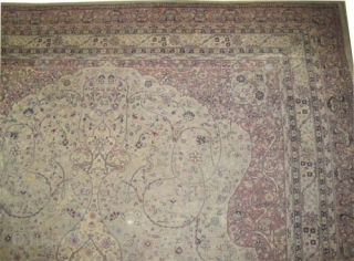 """Sivaz Anatolian circa 1915 antique. Size: 456 x 310 (cm) 14' 11"""" x 10' 2""""  carpet ID: P-5393 Very fine knotted, short pile, four different places are damaged as shows the  ..."""