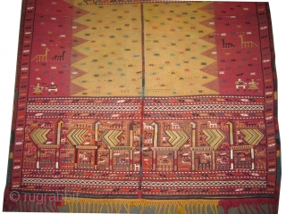 "Horse cover Vernneh Caucasian, woven circa in 1915 antique,  180 x 127 (cm) 5' 11"" x 4' 2""  carpet ID: A-184