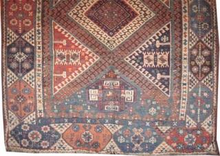 "Kara-Keçil Anatolian antique, 235 x 182 (cm) 7' 8"" x 6'  carpet ID: K-3619 High pile, in good condition, soft and high standard quality."