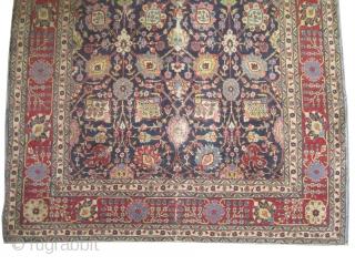 "Tabriz Petag Persian circa 1920 semi antique, Size: 300 x 195 (cm) 9' 10"" x 6' 5""   carpet ID: P-5070 The black color is oxidized, the knots are hand spun wool,  ..."