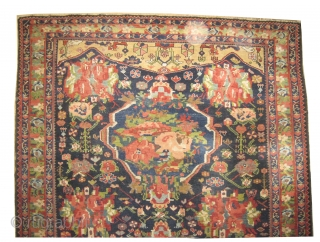 """Baktiar Ermenibaf Persian, knotted circa in 1910 antique, 292 x 168 (cm) 9' 7"""" x 5' 6""""   carpet ID: P-4673 High pile, in perfect condition, very fine knotted, the design has European  ..."""