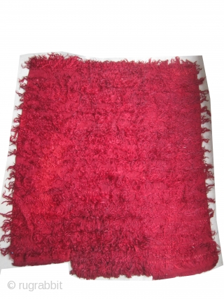 """Tullu Turkish blanket knotted 20th century, second half, 158 x 137 (cm) 5' 2"""" x 4' 6""""  carpet ID: UOE-21 Flat woven and knotted between each line there is a distance of  ..."""