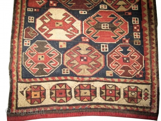 """Caucasian Moghan circa 1910 antique. Collector's item, Size: 48 x 42 (cm) 1' 7"""" x 1' 5""""   carpet ID: SA-1116 Woven with reverse technique of Soumak and hand spun 100% wool, perfect  ..."""