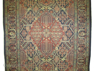"Mohtashem-Kashan Persian, knotted circa in 1910 antique, collectors item. 206 x 134 (cm) 6' 9"" x 4' 5""  carpet ID: K-111