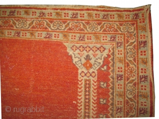 """Hajijelili-Tabriz Persian knotted circa in 1900 antique, collector's item, 81 x 57 (cm) 2' 8"""" x 1' 10""""  carpet ID: K-4577 Prayer design, high pile in perfect condition, fine knotted, the background  ..."""
