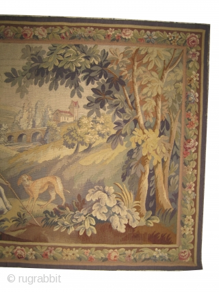 "French tapestry circa 1890 antique, collector's item, Size: 180 x 120 (cm) 5' 11"" x 3' 11""  carpet ID: MZ-1 