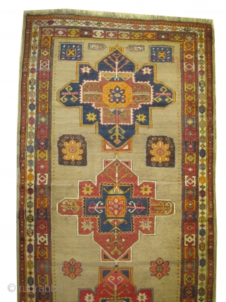 """Serap Persian knotted circa in 1895 antique, 352 x 134 (cm) 11' 6"""" x 4' 5""""  carpet ID: K-1987  The background is knotted with camel hair, the warp and the weft  ..."""