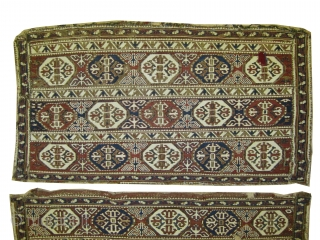 "A pair of Soumak Caucasian circa 1880 antique. Collector's item, Size: 103 x 54 (cm) 3' 5"" x 1' 9""  carpet ID: A-1011