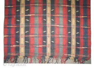 """Caucasian kelim woven circa in 1880 antique, collector's item, 312 x 170 (cm) 10' 3"""" x 5' 7""""  carpet ID: A-616 In good condition, woven with hand spun 100% lamb wool, minor  ..."""