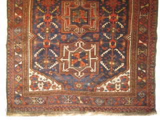 "Shiraz Persian knotted circa in 1910 antique, collector's item, 150 x 125 (cm) 4' 11"" x 4' 1""  carpet ID: UOE-19