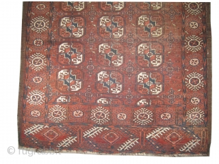"""Belutch Persian knotted circa in 1925 semi antique, 207 x 120 (cm) 6' 9"""" x 3' 11""""  carpet ID: K-4226 The knots, the warp and the weft threads are mixed with  ..."""