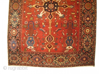 farahan Sarouk Persian, knotted circa in 1918, antique, collectors item, 148 x 101cm,  carpet ID: MMV-2 In good condition, high pile, finely knotted, silky wool.