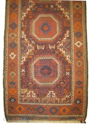 """Belutch Persian knotted circa in 1918, antique, 164 x 78 (cm) 5' 5"""" x 2' 7""""  carpet ID: OTB-2 The knots, the warp and the weft threads are mixed with hand spun  ..."""