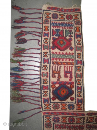 """Horse saddle cover, Louri southwest Persian, knotted circa in 1922, semi antique, collector's item,  142 x 111 (cm) 4' 8"""" x 3' 8""""  carpet ID: A-363 The knots are hand spun  ..."""