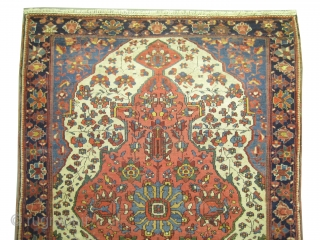 """Farahan Sarouk, knotted circa in 1890, antique, collector's item.  139 x 100 (cm) 4' 7"""" x 3' 3""""  carpet ID: K-101 High pile, acceptable condition, the knots are hand spun wool,  ..."""