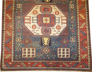 "Karatchoph Caucasian, antique, collectors item, Size: 208 x 179 (cm) 6' 10"" x 5' 10"" carpet ID: K-5647