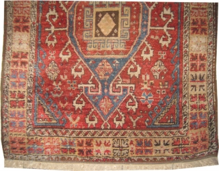 "Bergama Turkish, circa 1880. Antique. collector's item, Size: 174 x 134 (cm) 5' 8"" x 4' 5""  carpet ID: K-1229 