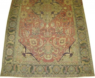 """Persian, antique. Collector's item, Size: 324 x 185 (cm) 10' 7"""" x 6' 1""""  carpet ID: P-3518  vegetable dyes, Senneh knots, soft as an handkerchief, high standard quality, acceptable condition.  Private collection. This  ..."""