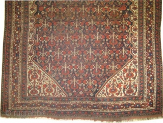 "Shiraz Khamse, circa 1890, antique. collector's item, Size: 190 x 162 (cm) 6' 3"" x 5' 4"" carpet ID: K-4616