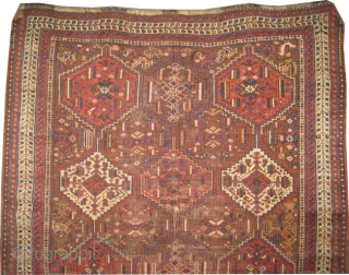 "Shiraz Khamse antique,circa 1905, collector's item, Size: 178 x 146 (cm) 5' 10"" x 4' 9"" 