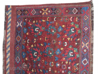 Afshar Persian knotted circa in 1905, antique, collectors item, 69 x 156 cm,  carpet ID: BRDI-17 The black color is oxidized, rare design, high pile in perfect condition and in its original  ...