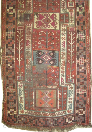 """Konya Anatolian. Size: 312 x 122 (cm) 10' 3"""" x 4'    carept ID: K-2700  vegetable dyes, the knots are hand spun wool, the brown color is oxidized, the warp and  ..."""