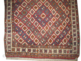 "Bergama Anatolian, circa 1890 antique. Size: 128 x 137 (cm) 4' 2"" x 4' 6""  carpet ID: K-1225 
