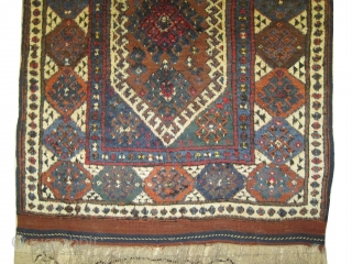 "Kara-Kaçil Turkish circa 1880 antique.  Size: 158 x 128 (cm) 5' 2"" x 4' 2""  carpet ID: K-1231  The knots are hand spun wool, acceptable condition, + each of two  ..."
