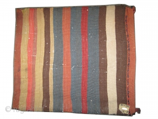 "Soumak Caucasian cushion circa 1905. Antique. Collector's item. Size: 48 x 42 (cm) 1' 7"" x 1' 5""  carpet ID: A-715