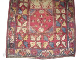 "Bergama Ada Anatolian prayer, circa 1880 antique, collector's item, Size: 185 x 113 (cm) 6' 1"" x 3' 8""  carpet ID: K-2132  village carpet, the knots are hand spun wool, rare  ..."