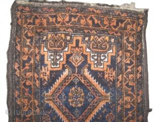 "Belutch Salar Khani balisht Persian circa 1905 antique, collector's item, Size: 78 x 42 (cm) 2' 7"" x 1' 5""  carpet ID: K-5227 vegetable dyes, the black color is oxidized, the knots  ..."