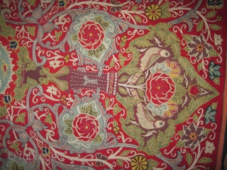 """Rashdi Persian patchwork, circa 1875 antique. Collector's item, Size: 149 x 144 (cm) 4' 11"""" x 4' 9""""  carpet ID: MM-10  Ajar Persian. Vegetable dyes, the silk needle-point is built on  ..."""