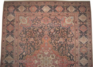 """Mohtashem Kashan Persian dated, antique. Size: 309 x 232 (cm) 10' 2"""" x 7' 7""""  carpet ID: P-665    Signed as: Sayid Mahmoud Farmaïsh eml. and dated 1322 = 1904. Senneh knots,  ..."""
