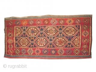 """Soumak Caucasian, circa 1908, antique. Collector's item. A pair of Soumak bag faces, Size: 100 x 46 (cm) 3' 3"""" x 1' 6""""  carpet ID: A-159 Good condition, vegetable dyes, woven with  ..."""
