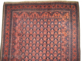 """Belutch Persian circa 1918 antique. Collector's item, Size: 200 x 102 (cm) 6' 7"""" x 3' 4""""  carpet ID: K-4792 Natural dyes, the black color is oxidized, the knots are hand  ..."""