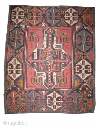 Soumak pair Caucasian circa 1905 antique. Collector's item. Carpet ID: A-838  perfect condition, woven with Soumak technique, the white color is cotton and the rest is hand spun 100% wool, fine woven,  ...