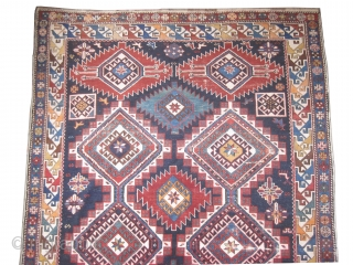 "Shirvan Caucasian circa 1905 antique and signed. Collector's item, Size: 310 x 160 (cm) 10' 2"" x 5' 3""  carpet ID: H-267 