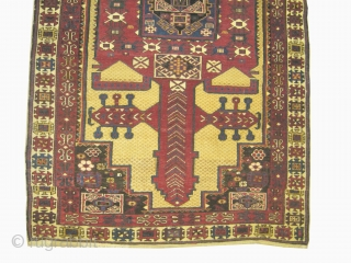 "Shirvan Caucasian circa 1895 antique. Collector's item, Size: 200 x 115 (cm) 6' 7"" x 3' 9""   carpet ID: H-42