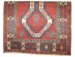 "Sevan Kazak Caucasian circa 1885 antique. Collector's item, Size: 275 x 144 (cm) 9'  x 4' 9""  carpet ID: K-4114