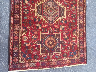 THANK YOU FOR LOOKING!  PERFECT FOR WIDER HALLWAYS, THIS HANDMADE SEMI-ANTIQUE KARAJA RUNNER MEASURES APPROX. 11 FEET LONG X 3 FEET 10 INCHES WIDE.  A DESCRIPTION ON THE COLLECTOR'S INVENTORY DESCRIBES THIS AS A  ...