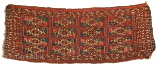 A fine Tekke trapping with Ayna gul motifs in dense wool pile and oxidized insect dyed red silk. Good condition with no repairs and minor damage on corners and edges as shown.  ...