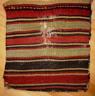 Very good reverse sumak Shahsevan khorhin with original back and complete closure panel.