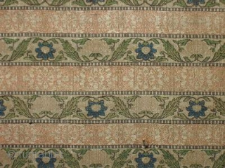 Safavid Silk Sash Fragment, Persia, circa: 1650, size:0'10 x 1'11 (25 x 58 cm) The textile came out of Tibet via Kathmandu. It was probably part of a monastery collection before the  ...
